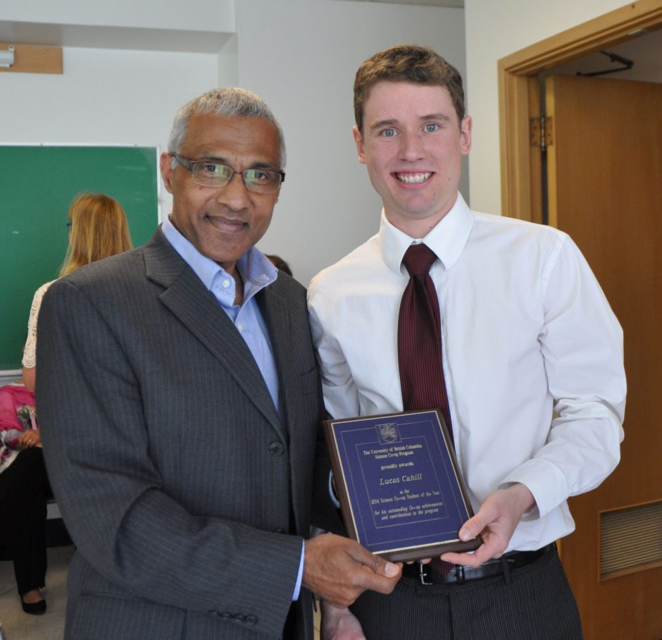Congratulations Lucas Cahill (R), Co-op Student of the Year with Dr. Javed Iqbal, Co-op Director